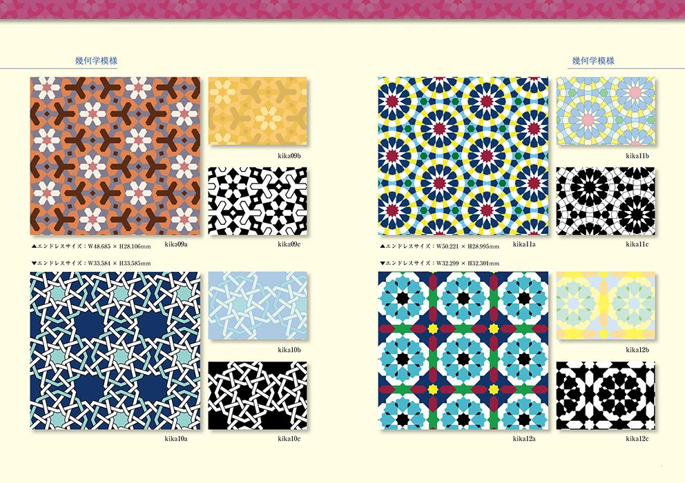 アラベスク模様素材(ダウンロード版)